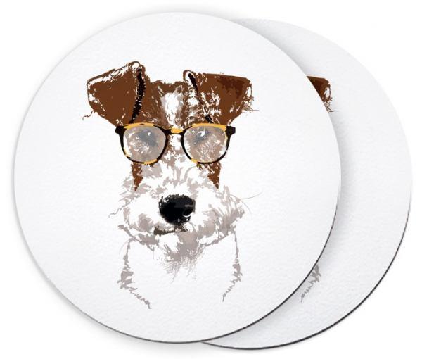Fox Terrier Einstein - Untersetzer