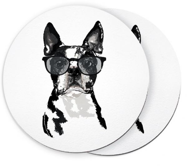 Boston Terrier Churchill - Untersetzer