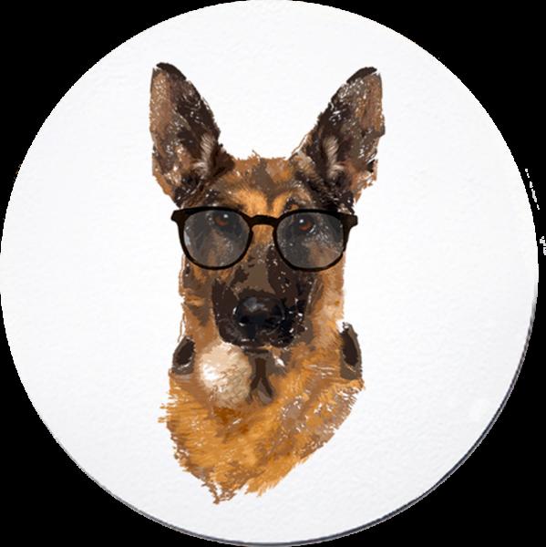 Schäferhund Schimanski - Untersetzer